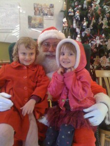 Kira and Nava with Santa